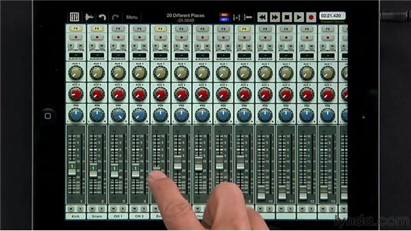 Grouping faders: iPad Music Production: Auria