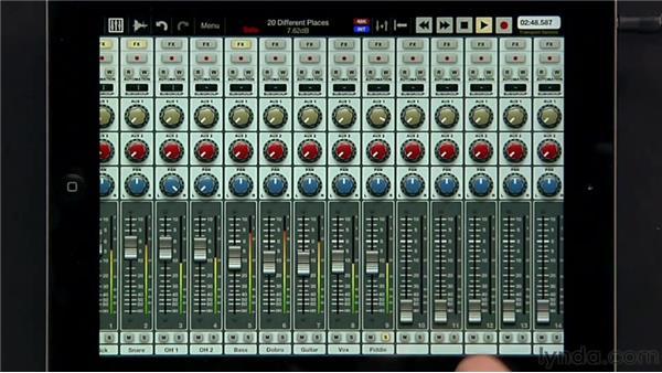 Using auxiliaries: iPad Music Production: Auria