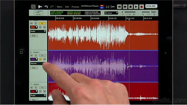 Using automation: iPad Music Production: Auria