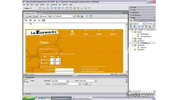 forms, accesskeys and JavaScript: Dreamweaver MX 2004 Beyond the Basics