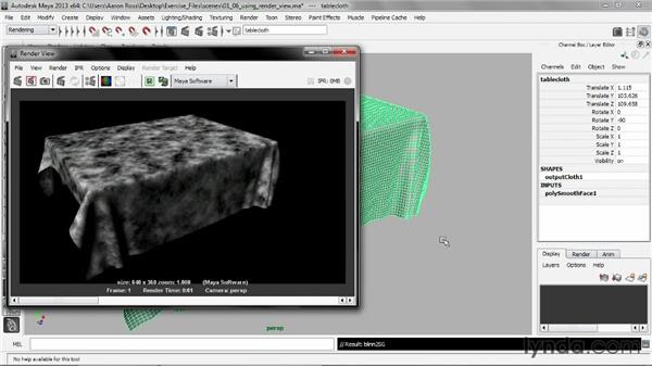 Using the Render view: Creating Shader Networks in Maya and mental ray