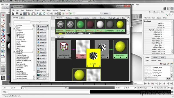 Duplicating networks: Creating Shader Networks in Maya and mental ray