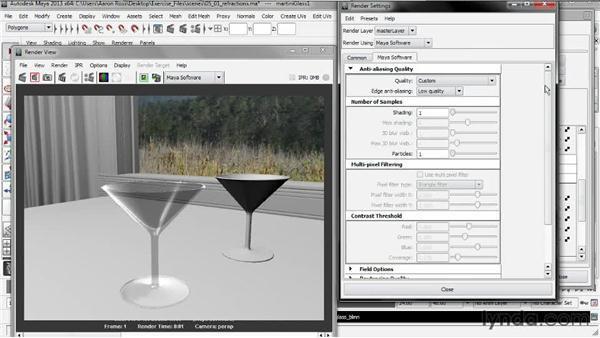 Rendering refractions: Creating Shader Networks in Maya and mental ray