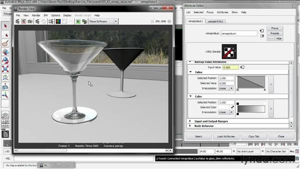 Modifying transparency with Remap Value: Creating Shader Networks in Maya and mental ray