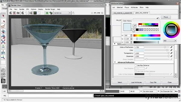 Rendering solid glass with mia_material_x: Creating Shader Networks in Maya and mental ray