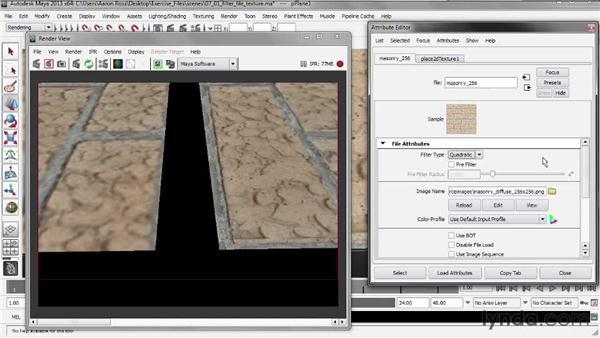 Filtering a file texture: Creating Shader Networks in Maya and mental ray
