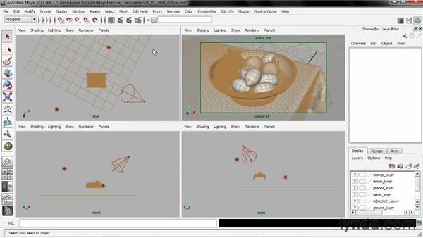 Creating an ideal diffuse shader: Creating Shader Networks in Maya and mental ray