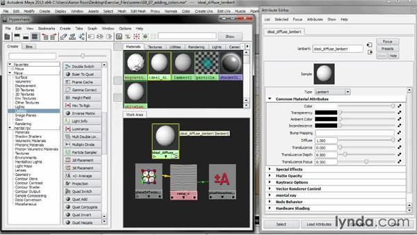 Adding colors: Creating Shader Networks in Maya and mental ray