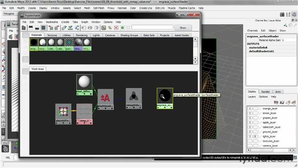 Setting a threshold with Remap Value: Creating Shader Networks in Maya and mental ray