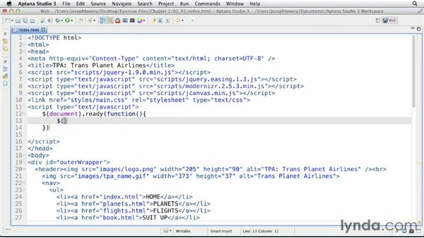 Setting up the canvas: HTML5 Projects: Personalized Ads