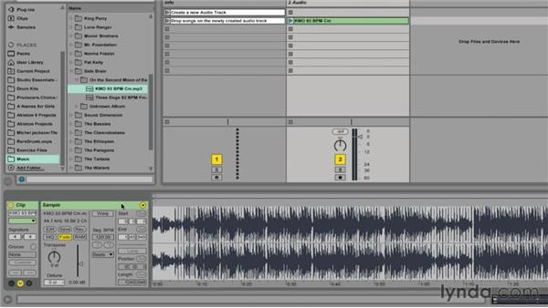 Importing songs into Ableton Live: Ableton Live 9 for Live Performance