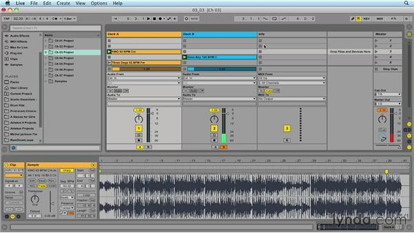 Mapping the crossfader: Ableton Live 9 for Live Performance