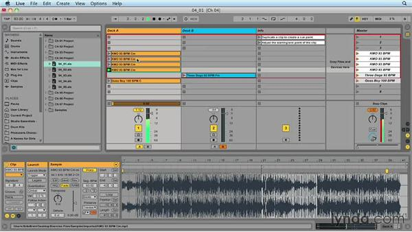 Creating cue points: Ableton Live 9 for Live Performance
