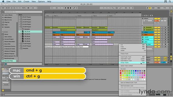 Organizing your tracks: Ableton Live 9 for Live Performance