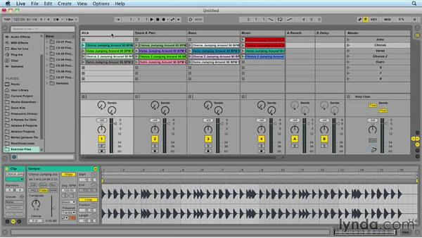 Creating a new set: Ableton Live 9 for Live Performance