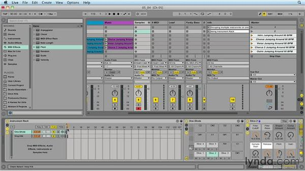 Setting up multiple instruments on one track: Ableton Live 9 for Live Performance