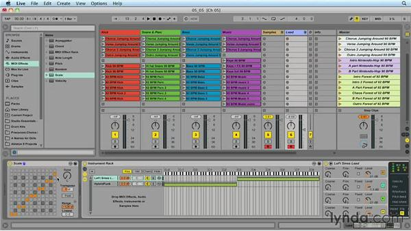 Using the Scale MIDI effect to play in key: Ableton Live 9 for Live Performance