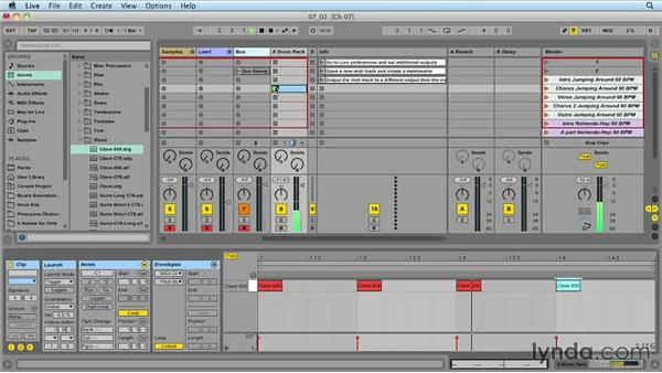 Creating and routing a click track: Ableton Live 9 for Live Performance