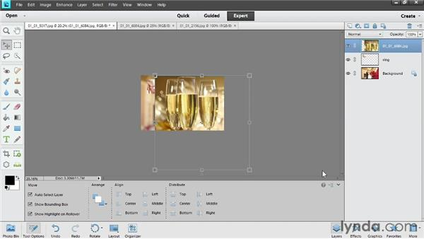 Combining photos: Photoshop Elements 11 Essentials: 04 Creative Effects and Projects