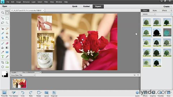 Exploring photo filters: Photoshop Elements 11 Essentials: 04 Creative Effects and Projects