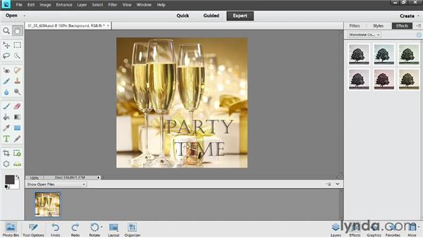 Adding preset photo effects: Photoshop Elements 11 Essentials: 04 Creative Effects and Projects