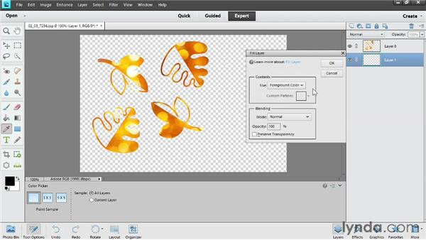 Making cookie-cutter shapes: Photoshop Elements 11 Essentials: 04 Creative Effects and Projects