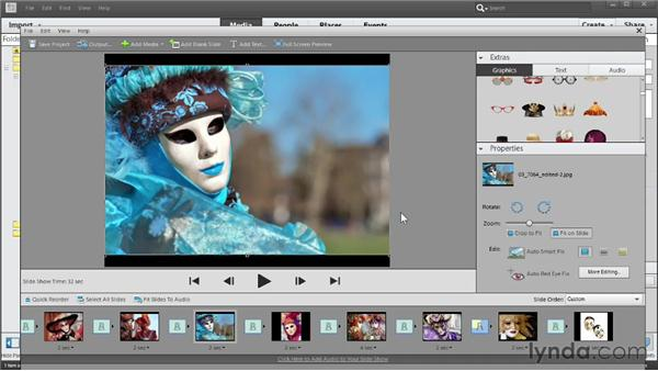 Setting image properties for slides: Photoshop Elements 11 Essentials: 04 Creative Effects and Projects