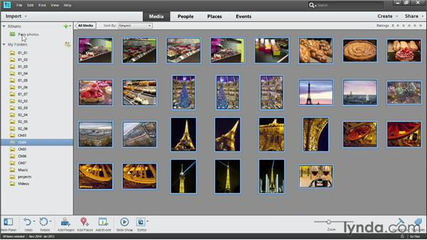Sequencing photos for a book: Photoshop Elements 11 Essentials: 04 Creative Effects and Projects