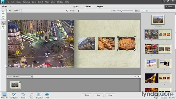 The bookmarking workspace: Photoshop Elements 11 Essentials: 04 Creative Effects and Projects