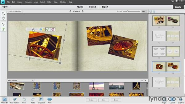 Adding photos to a book: Photoshop Elements 11 Essentials: 04 Creative Effects and Projects