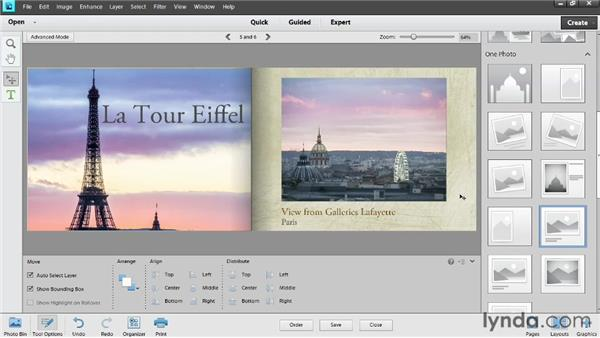 Customizing the appearance of a book: Photoshop Elements 11 Essentials: 04 Creative Effects and Projects