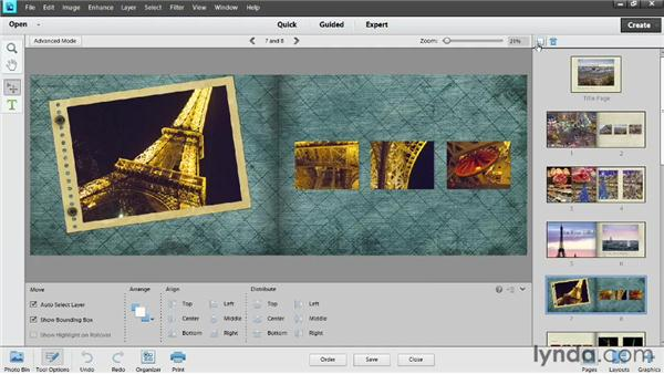 Saving and printing a book: Photoshop Elements 11 Essentials: 04 Creative Effects and Projects