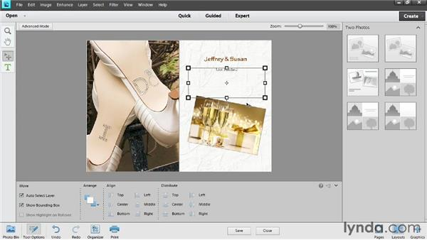 Customizing a card: Photoshop Elements 11 Essentials: 04 Creative Effects and Projects