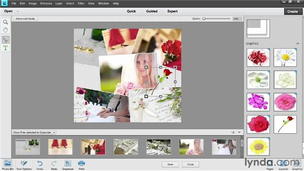 Customizing a collage: Photoshop Elements 11 Essentials: 04 Creative Effects and Projects