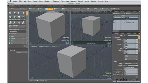 The MODO 601 interface: Creating Product Shots in MODO