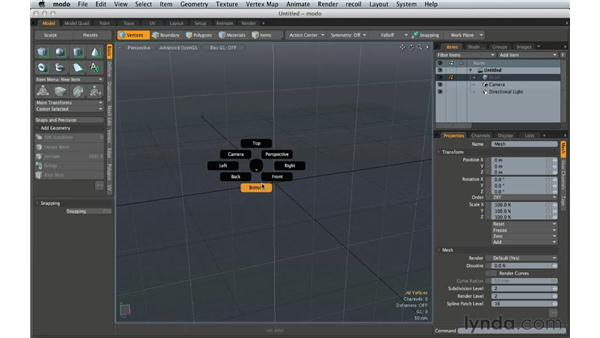 Exploring workflow settings for modeling products: Creating Product Shots in MODO