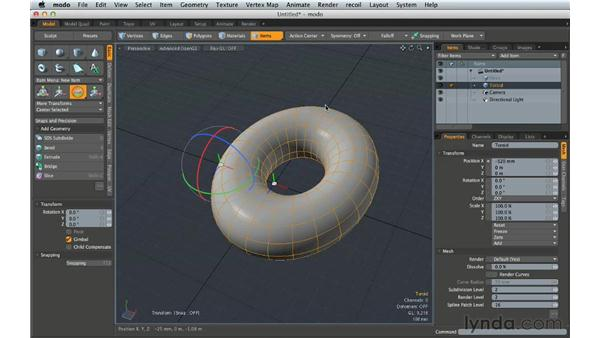 Examining core concepts for modeling: Creating Product Shots in MODO