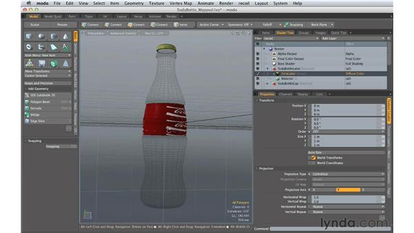 Applying image mapping: Creating Product Shots in MODO