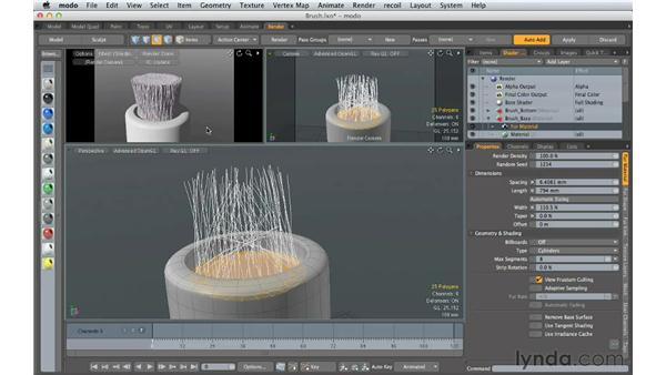 Creating fibers: Creating Product Shots in MODO