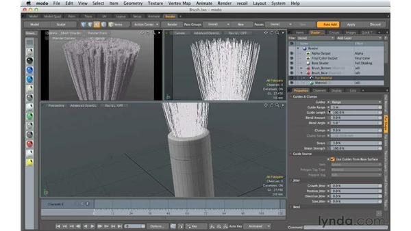 Modifying fibers: Creating Product Shots in MODO