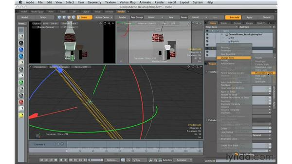 Understanding basic lighting: Creating Product Shots in MODO