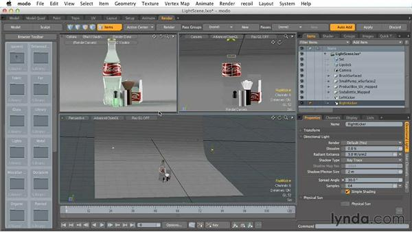 Creating product shot lighting: Creating Product Shots in MODO