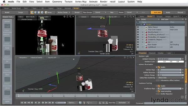 Applying indirect lighting: Creating Product Shots in MODO