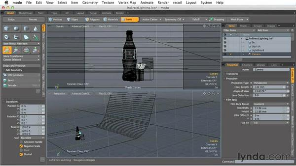 Setting up 3D cameras: Creating Product Shots in MODO