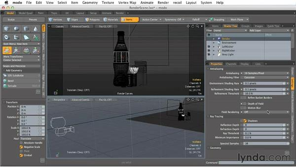 Understanding render basics: Creating Product Shots in MODO