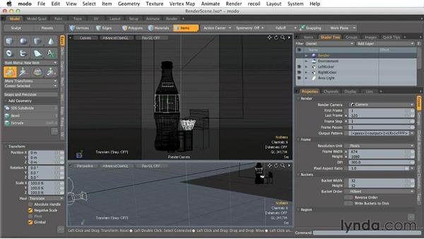 Generating a render for print: Creating Product Shots in MODO