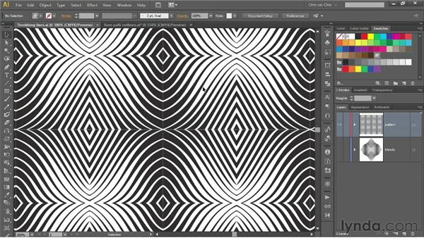 201 Op art experiment 2a: Undulating pattern: Deke's Techniques