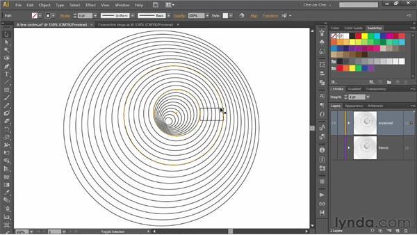 202 Op art experiment 2b: Concentric rings: Deke's Techniques