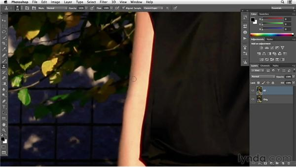 Adjusting the shape of clothing to fit a model: Photoshop Retouching Techniques: Fashion Editorial