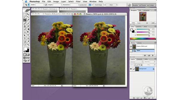 choosing a color mode: Photoshop CS Essential Training